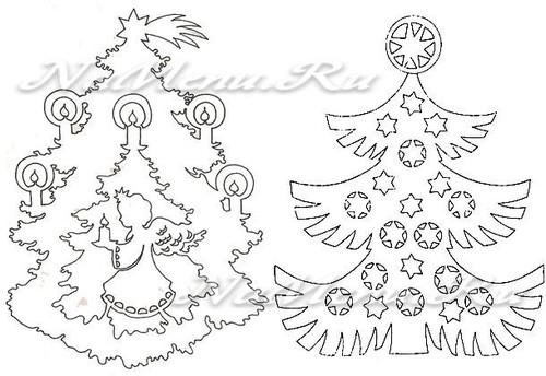 Plantillas Para Decorar Ventanas En Navidad.Arbol De Navidad De Bricolaje Hecho De Papel Con Un Patron