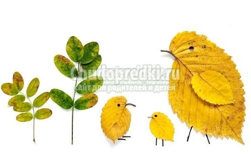 Artesanía colectiva sobre el tema del otoño. Artesanías de otoño con ...