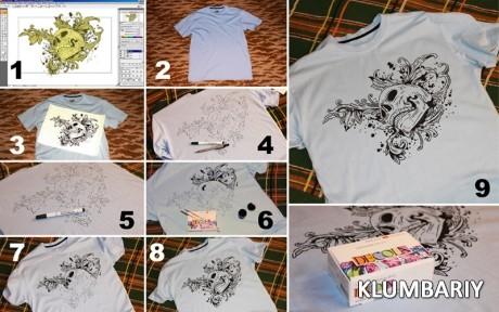 Как сделать картинку на футболке в домашних условиях без термо бумаги, про счастье картинках
