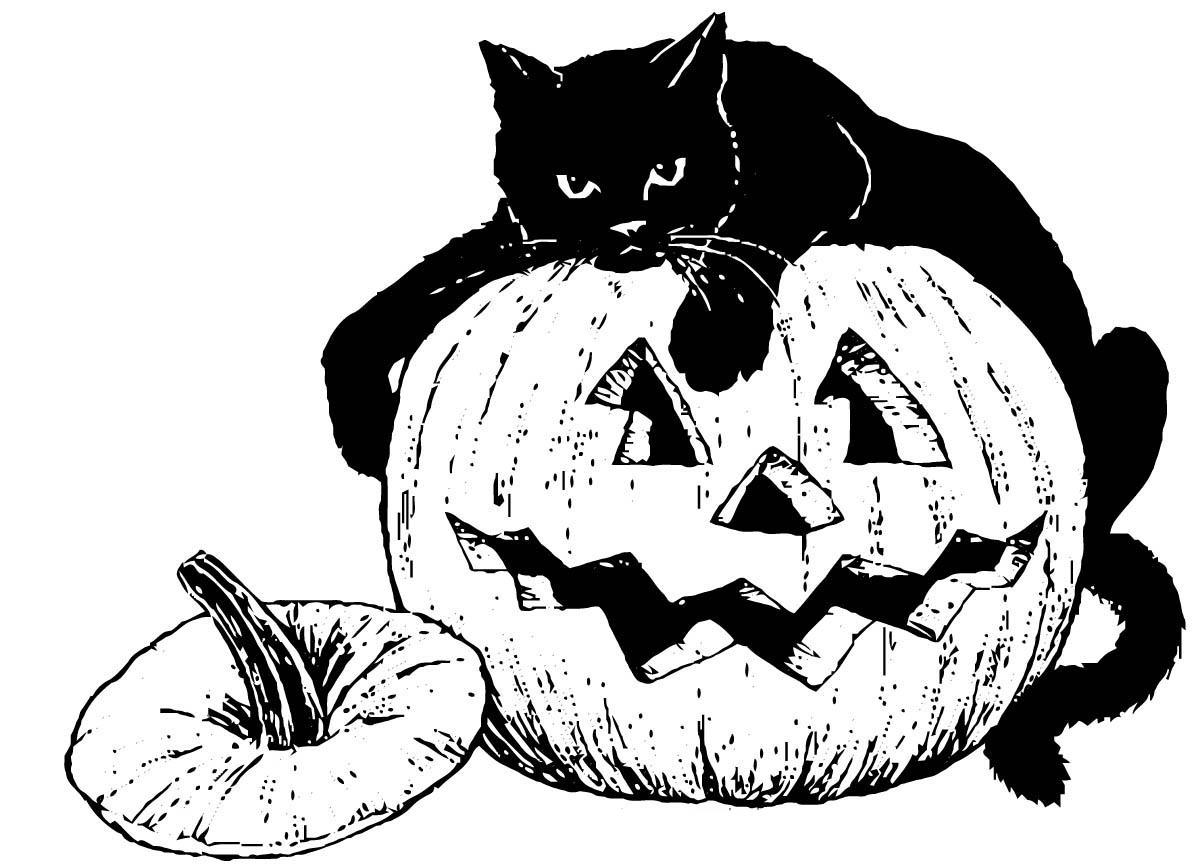 ежедневно картинки для распечатки хэллоуин одна