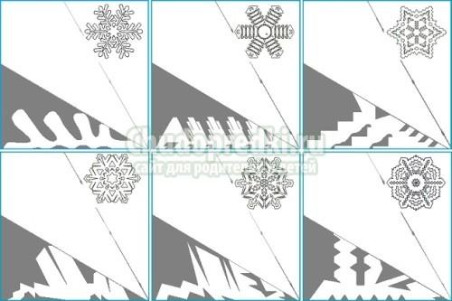 Hermosas estacas para copos de nieve. Copos de nieve de papel.