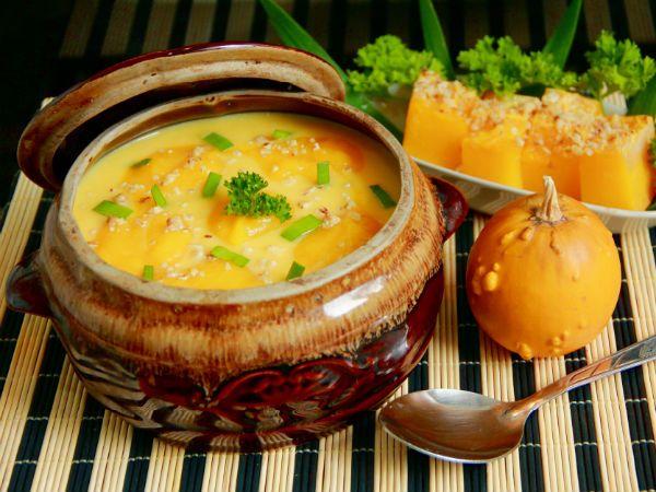 Блюда из тыквы в горшочке рецепты